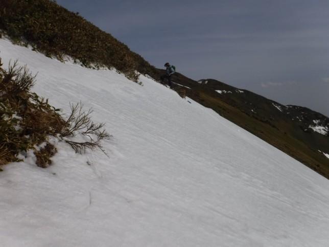 スキーで登る