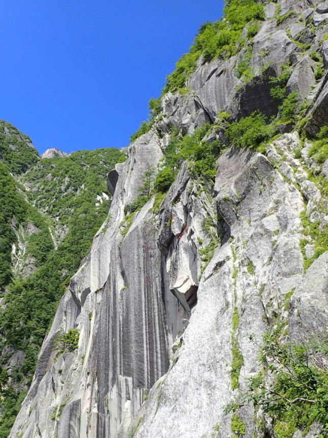 Aフランケの綺麗な岩壁