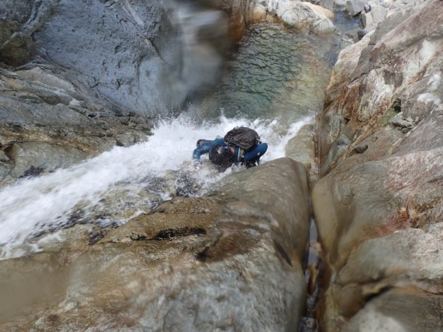 滝登りは最高に気持ちよかった。
